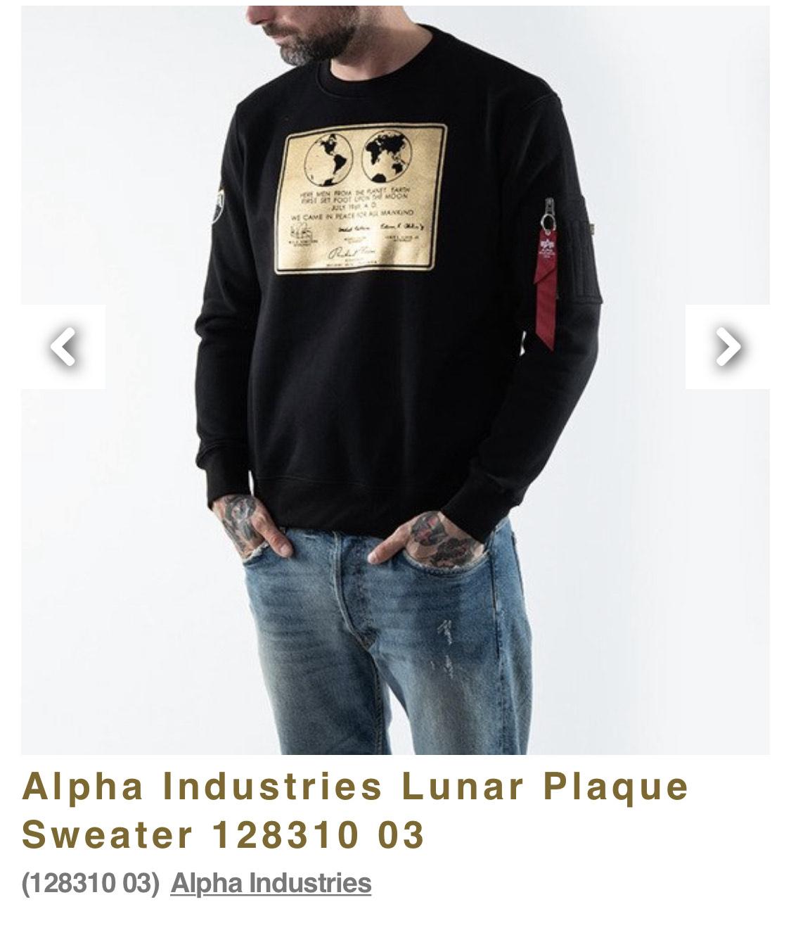 Alpha Industries Lunar Plaque Sweatshirt & weitere Deals