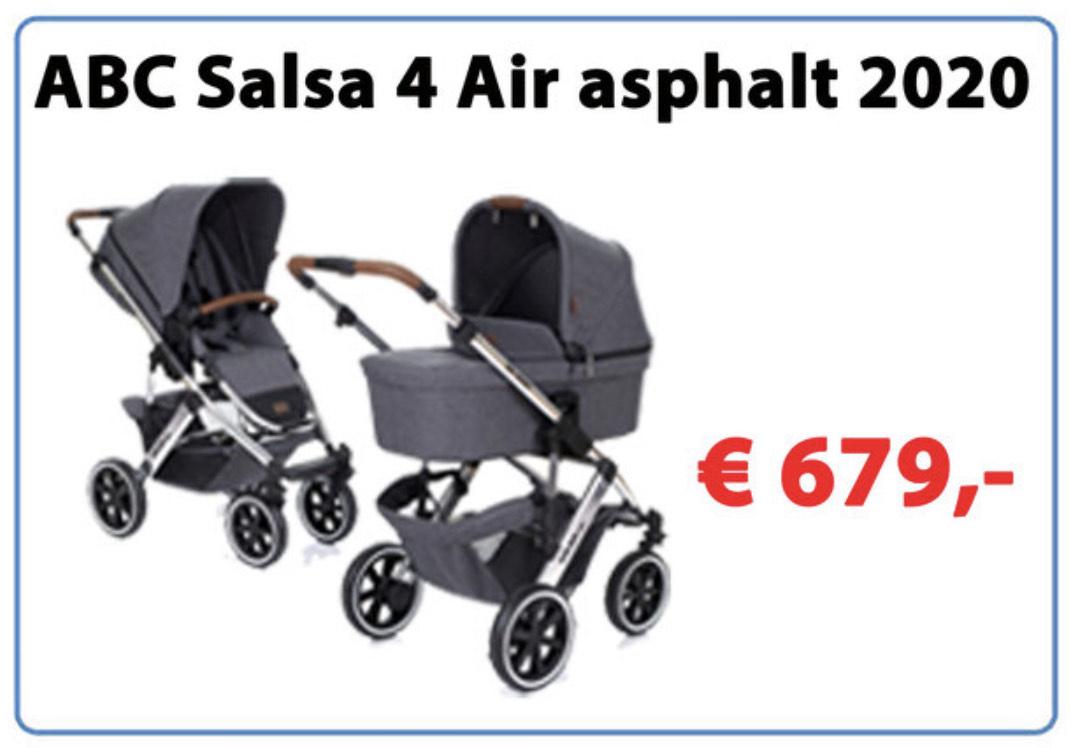 [Lokal] ABC Salsa 4 Air asphalt 2020 Kinderwagen im Baby ! Markt Frechen