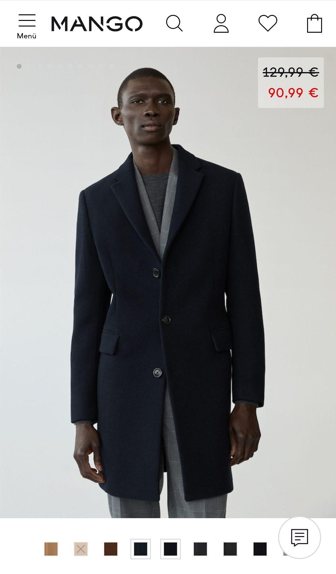 Tailored-Mantel aus Woll-Mix   Mango