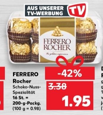 [Kaufland ab 03.12] Ferrero Rocher in der 200g Packung (16 Stück) für 1,95€