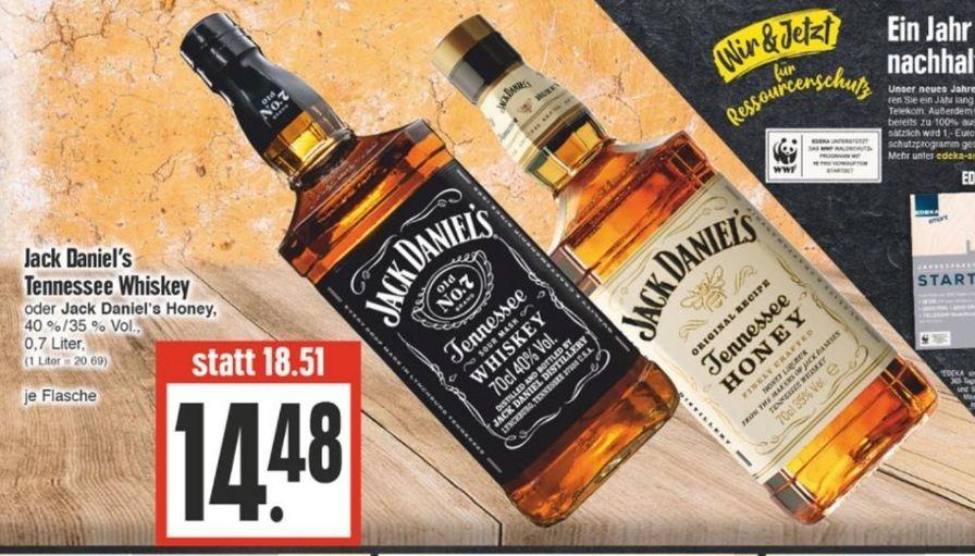 Jack Daniels Whisky oder Honey lokal Edeka