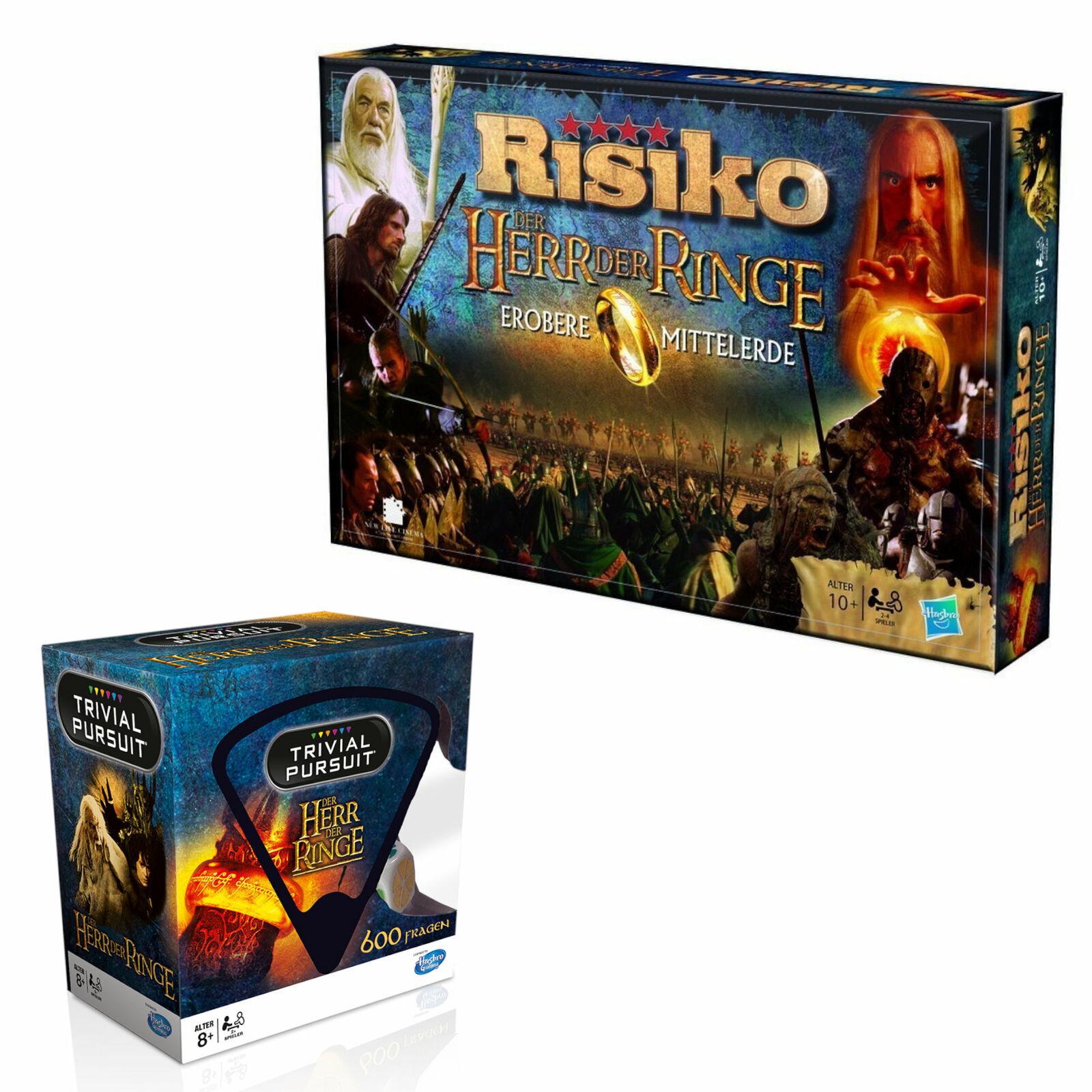 Herr der Ringe Bundle Risiko + Trivial Pursuit Quiz Strategiespiel Brettspiel