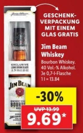 Jim Beam + Glas+Geschenkverpackung