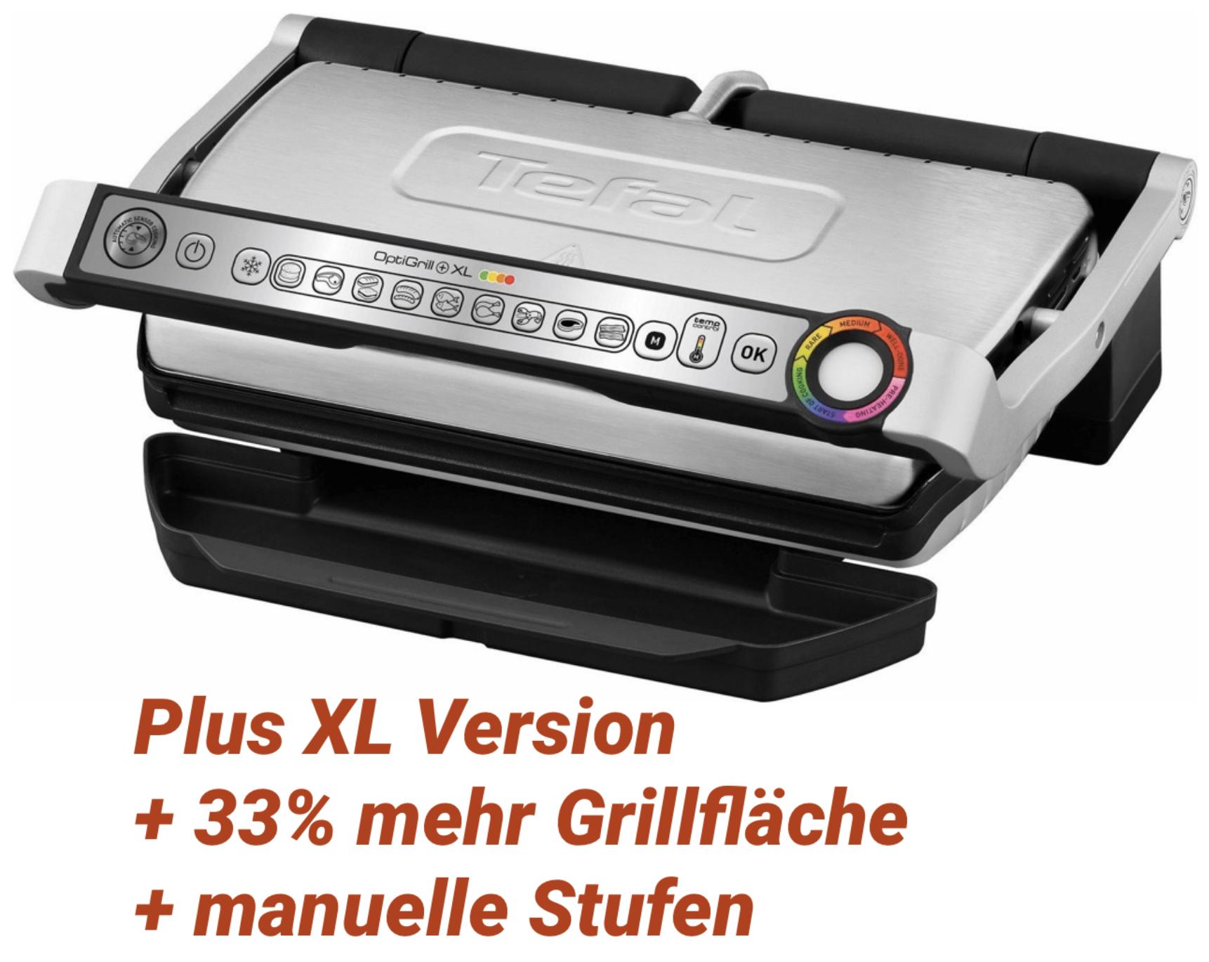 Tefal OptiGrill XL GC722D Kontaktgrill mit Plus XL-Grillfläche u. zusätzlichen Temperaturstufen für 108,99€ inkl. Versandkosten