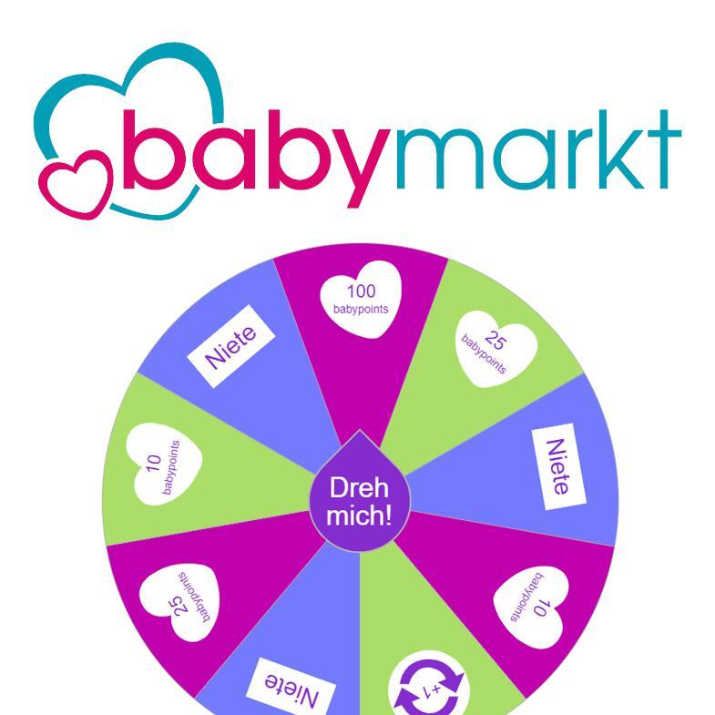 Kostenlos Guthaben (babypoints) sammeln beim babymarkt.de Glücksrad