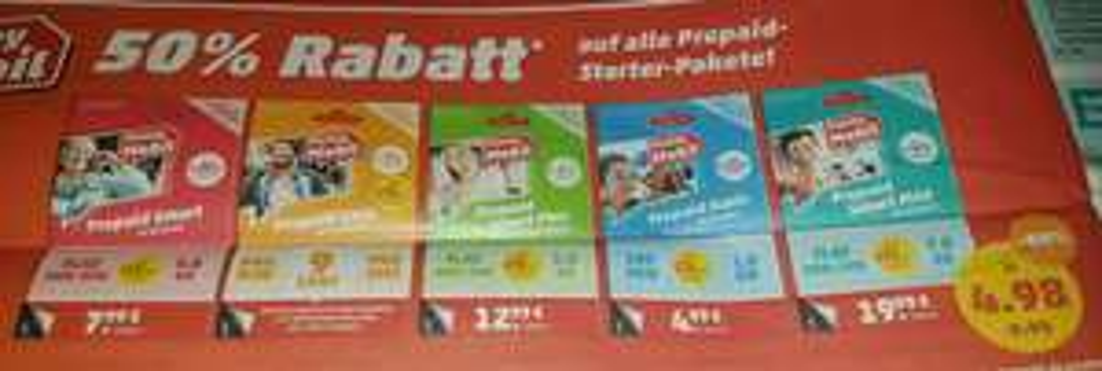 Penny Mobil Prepaid (D1 / Congstar) 50% auf alle Prepaid starter Pakete - auch Online