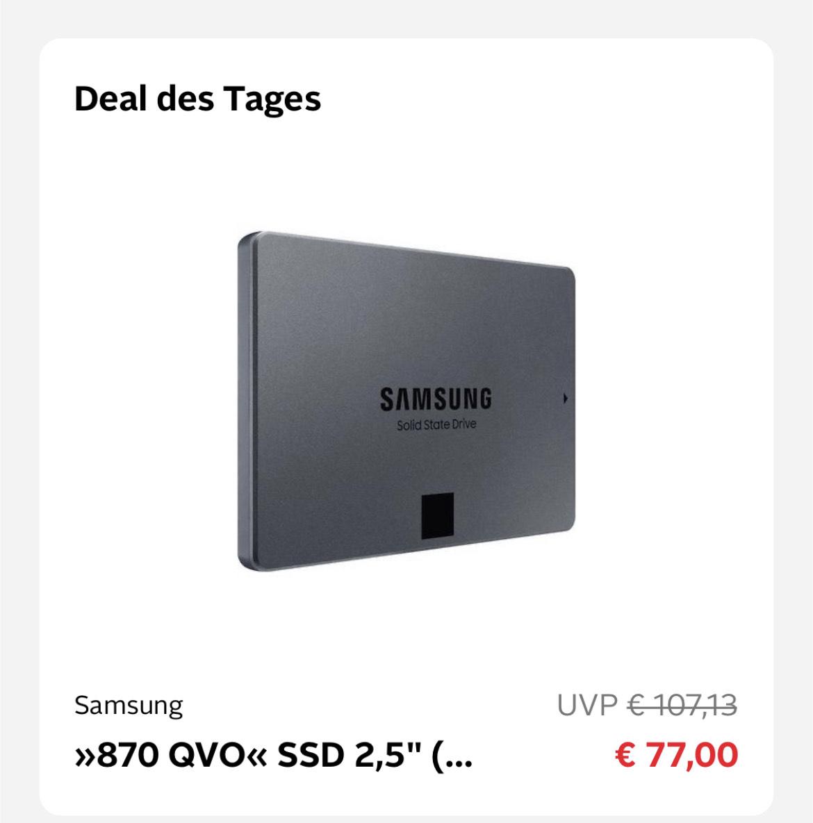 "Samsung 870 QVO SSD 2,5"" 1TB"
