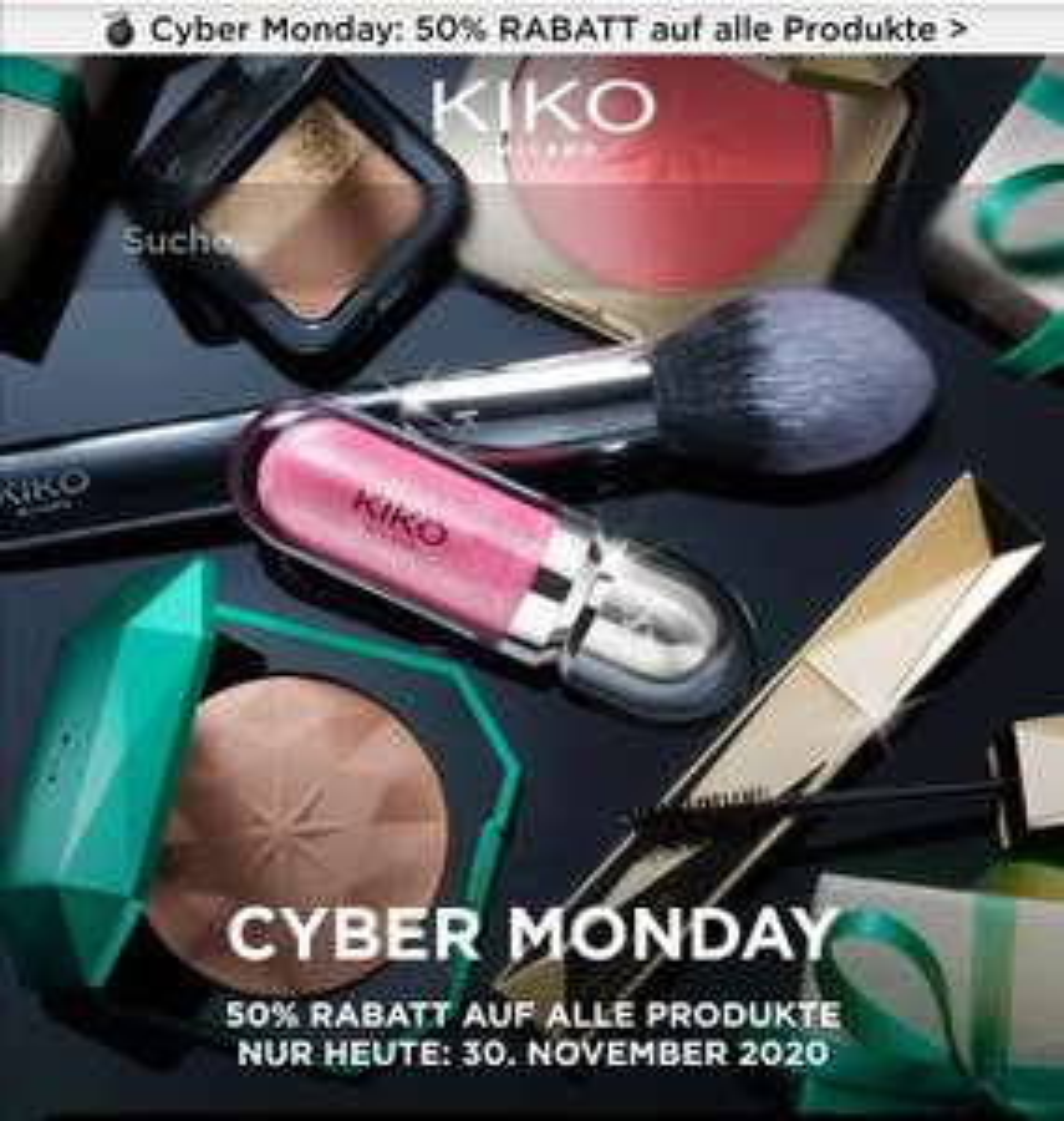 50 % auf alles bei Kiko online - Cyber Monday