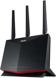 Asus RT-AX86U Gaming Router (Ai Mesh WLAN System, WiFi 6 AX5700, Gaming Engine, 2.5G LAN, 1.8 GHz QC CPU, AiProtection, USB 3.2)