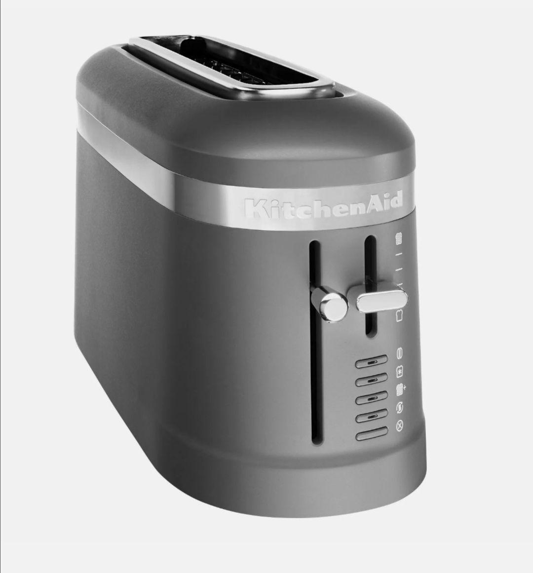 Kitchenaid Toaster 5KMT3115E Langschlitz Grau (B-Ware) für 59,90€. (53,91€ mit Cashback)