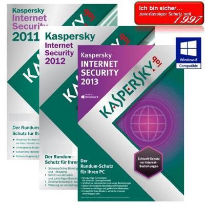 Kaspersky Internet Security 2013 3 PC's Vollversion GreenIT 1 Jahr