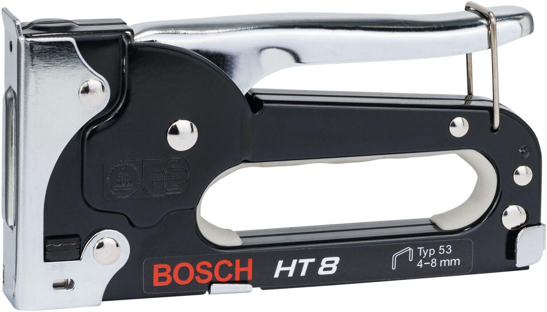 Bosch Professional Handtacker HT 8 (Holz, Klammertyp 53, Stahl, gepolsterter Griff) [Prime]
