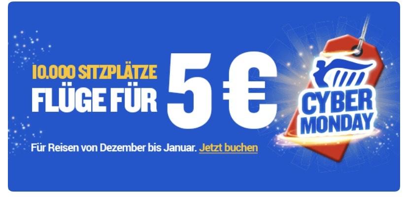 10 000 Ryanair Tickets für 5€