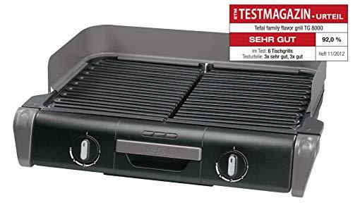 [Amazon oder Otto] Tefal Elektrogrill Family TG8000 | Tischgrill/BBQ | Für drinnen und draußen | Zwei getrennte Grillroste