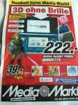 Nintendo 3DS in schwarz oder blau bei Media Markt für nur 222€ UPDATE: Angebot ist doch Deutschlandweit!