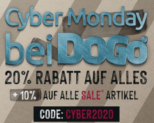Cyber Monday bei DOGO 20% + 10% auf SALE Artikel