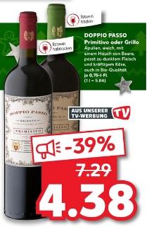 [Kaufland] ab 07.12 Doppio Passo Primitivo oder Grillo für 4,38€ Rotwein