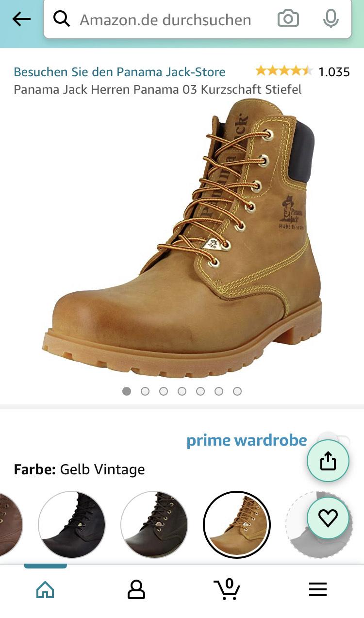 [Amazon Prime] Bestpreis Panama Jack Herren Panama 03 Kurzschaft Stiefel Gelb Vintage - Grössen 41, 42, 43, 45, 46 und 47