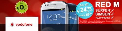 Vodafone Red M (Allnet-Flat) inkl. Galaxy S3 Mini für 29,99 €/Monat (normal), oder 24,99 (junge Leute/Studenten) über pauldirekt/getmobile (!)
