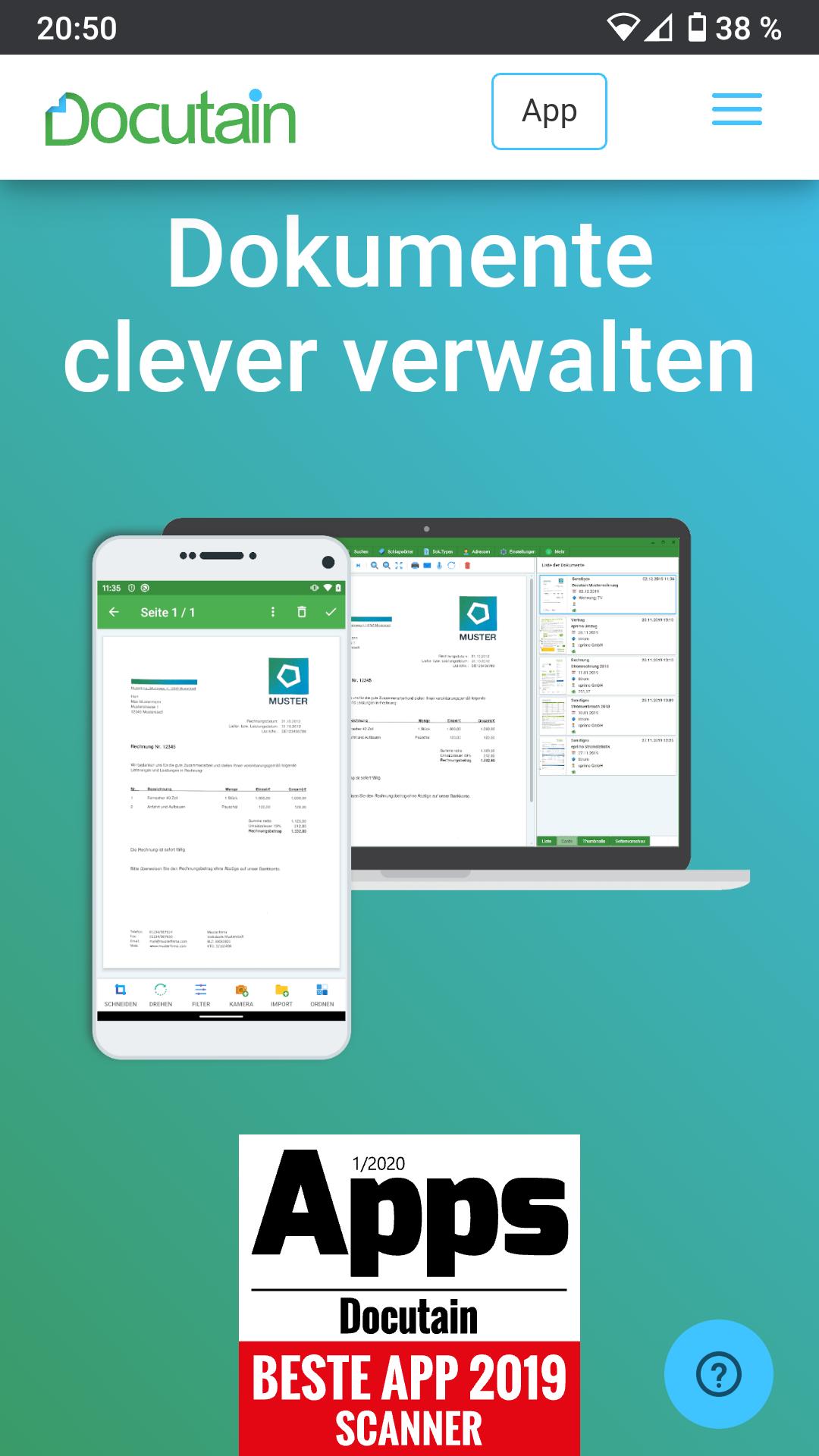 [iOS, Android, PC] Docutain - Dokumente scannen und verwalten - CyberWeek