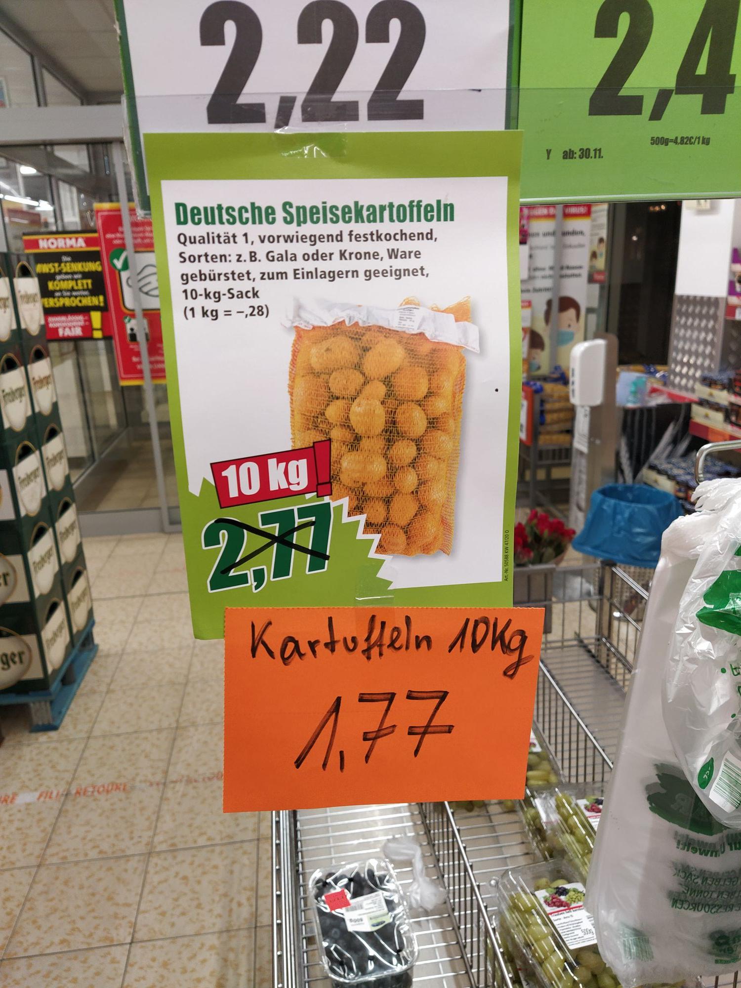 NORMA Filiale Dresden - 10Kg Kartoffeln