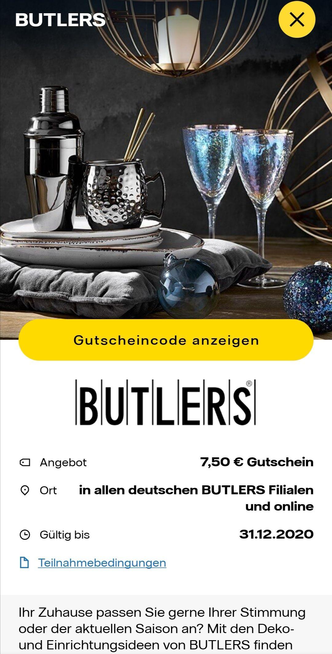 In der MyHighlight App von Vattenfall gibt es einen 7,50 € Gutschein von Butlers