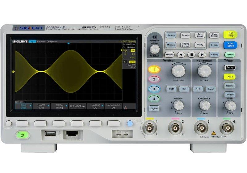 Siglent SDS1202X-E, Oszilloskop, 2-Kanal, 200MHz, 1GS/s