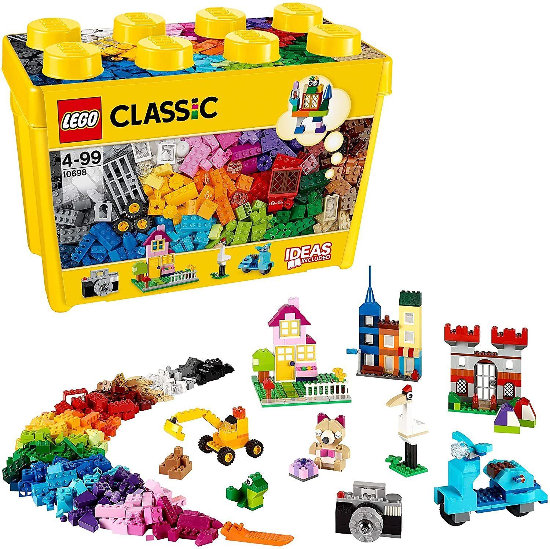 LEGO Classic 10698 - Große kreative Bausteine-Box (Spielzeugaufbewahrung, 790 bunte Bausteine für LEGO Masters)