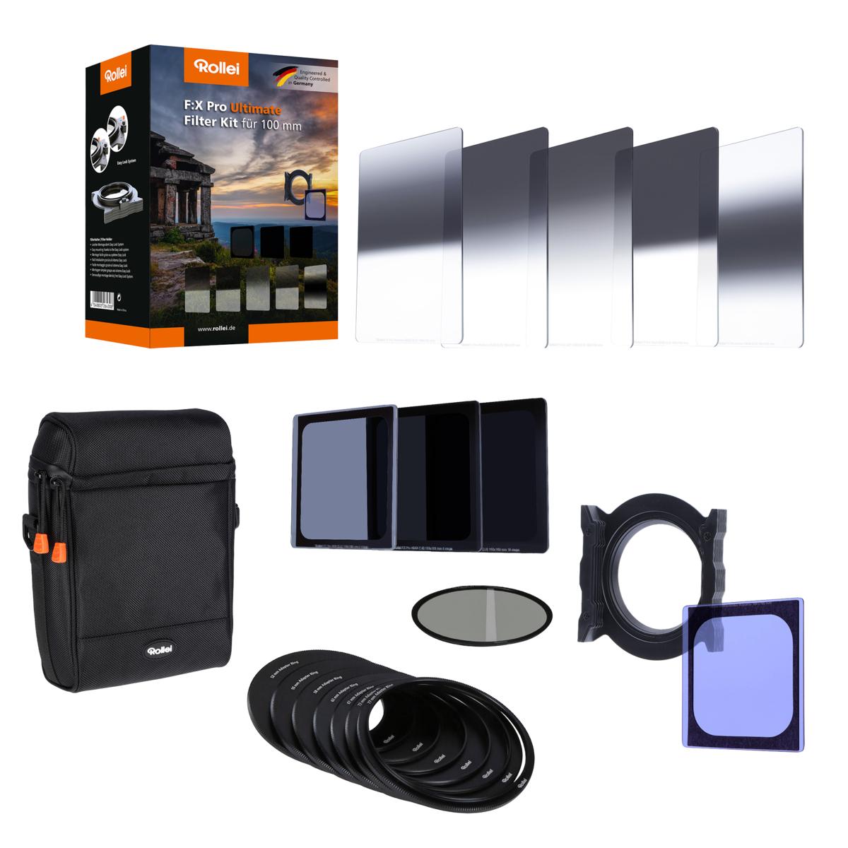 Rollei Kamera-Filterset F:X Pro Ultimate (Set mit Filterhalter, Filtern und Tasche)