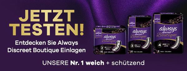 [ GzG ] P&G: always discreet Boutique - 100% Geld zurück