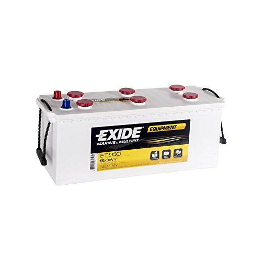 EXIDE Equipment ET 950 Blei-Säure Batterie, 135Ah (für Wohnwagen und Boote)