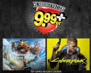 Gamestop 9,99er: Cyberpunk 2077 (Ps4, Xbox One) & Immortals Fenyx Rising (Ps4, Ps5, Switch, Xbox) für je eff. 46,85€
