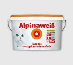 Alpina Weiss 8 Liter Premiumqualität für 24,99 € anstatt 39,99 € bei Praktiker