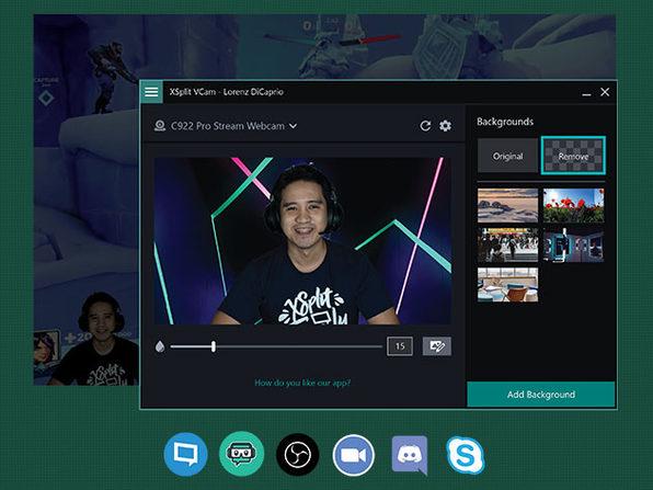 XSplit VCAM Lifetime Lizenz Green Screen Software fürs HomeOffice