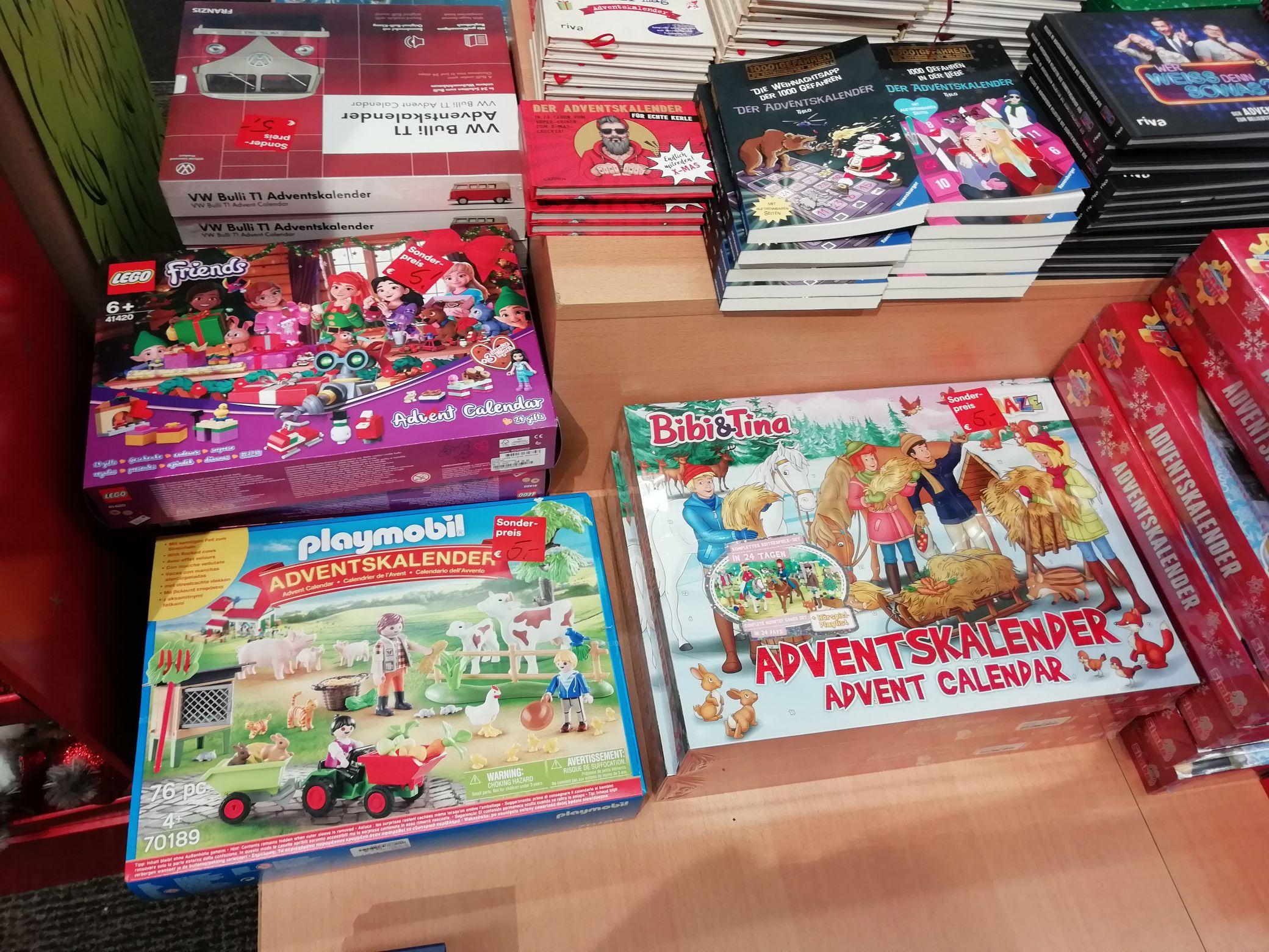 Thalia - restliche Adventskalender z. B. Lego Friends und Playmobil nur 5,00 € (evtl Lokal Bielefeld)