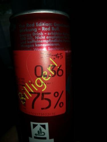 *** [ lokal Kaufland Hannover/Laatzen ] Red Bull RED EDITION Fur 36ct +pfand !!!!