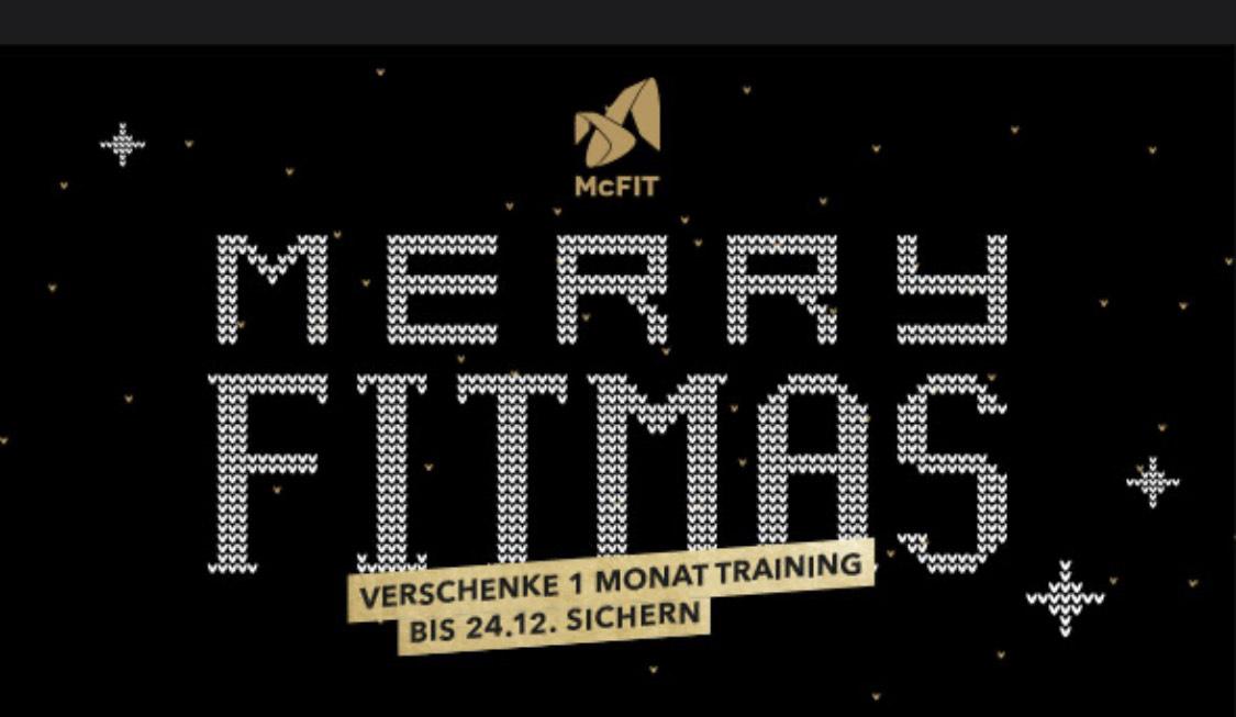 McFit 1 Monat Training (Weihnachtsgutschein)