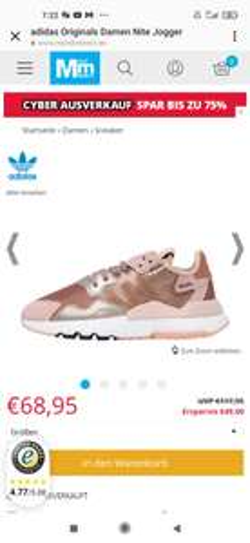 adidas Originals Damen Nite Jogger Sneakers Metallic