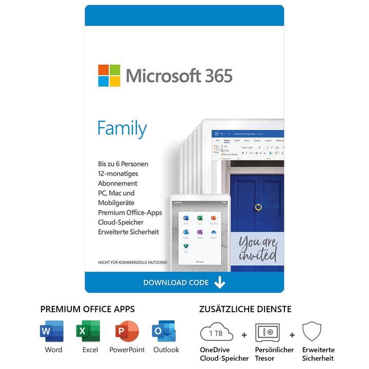 Office 365 family als key