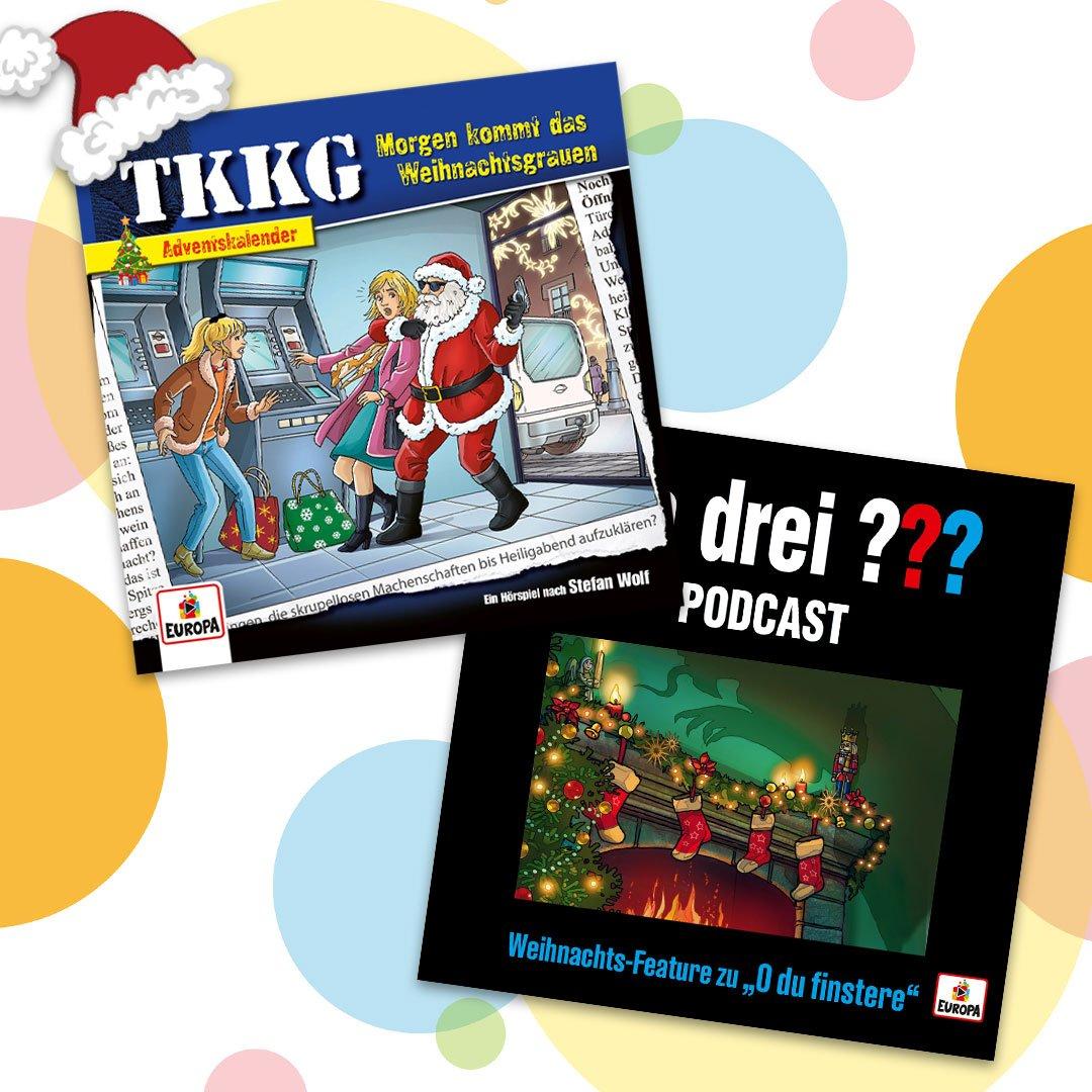 Europa Hörspiel-Adventskalender (inkl. Weihnachts-Hörspiele von Die drei ??? & TKKG / z.T. mit Download-Möglichkeit bei YouTube)