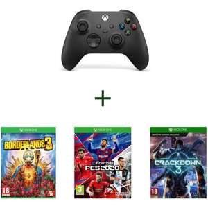 Xbox Wireless Controller + PES 2020 + Borderlands 3 + Crackdown 3 für 77,98€ (Cdiscount)
