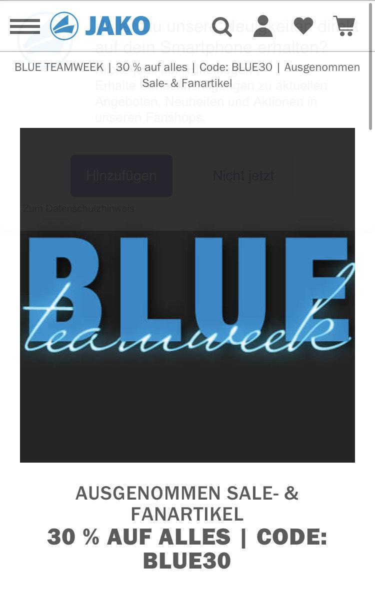 JAKO - Blue teamweek