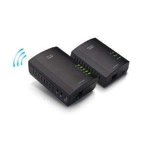 Linksys PLWK400 Powerline Wireless Network Extender Kit (200Mbps) [AMAZON]