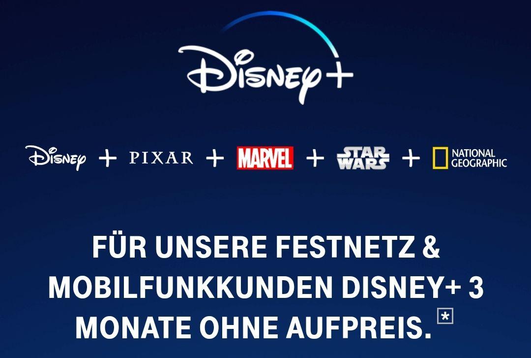 Telekom Mobilfunk Kunden - Disney+ 1 Monat kostenlos