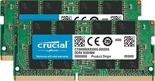 Crucial 32GB (16GB x2) Speicher Kit (DDR4, 2666 MT/s, PC4-21300, SODIMM, 260-Pin)