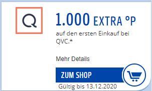 [PAYBACK] 1.000 Extra Punkte für Neukunden bei QVC ohne MBW leider personalisiert