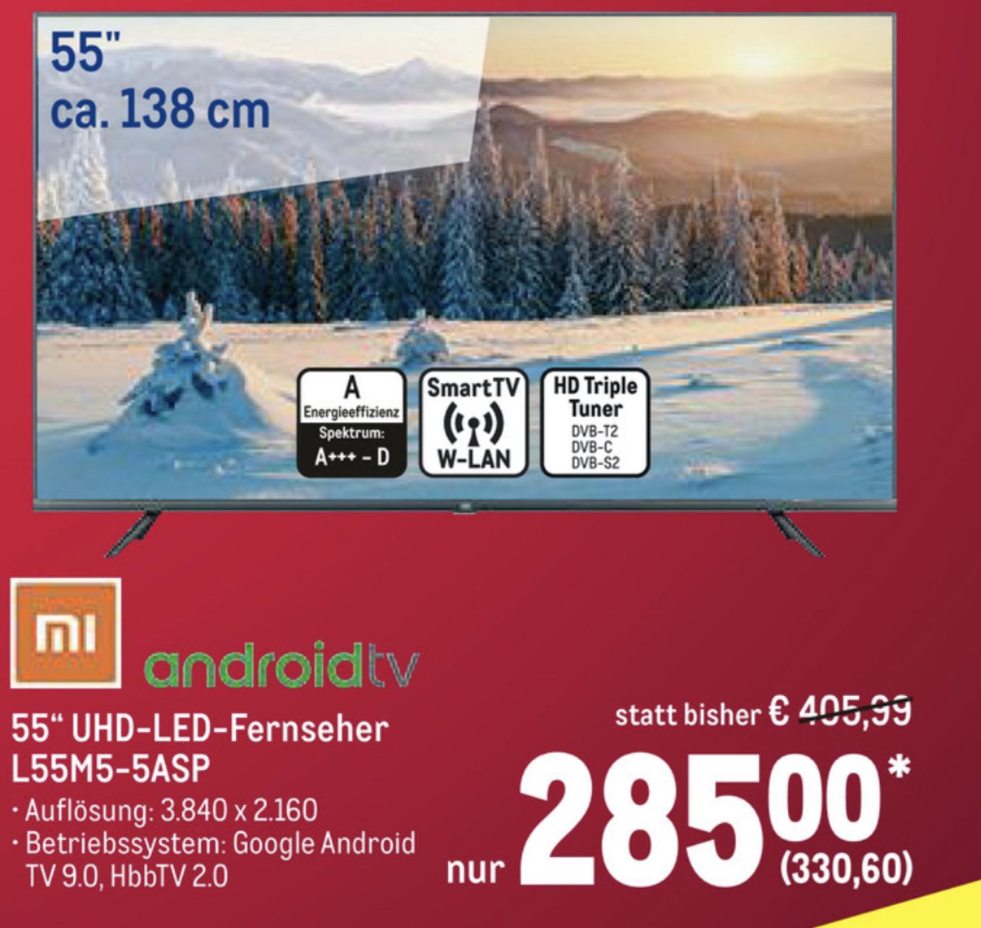Xiaomi Mi Smart TV 4S 55 Zoll 138cm 4K UHD L55M5-5ASP für 330,60€ / mit NL Gutschein für 320,60€ möglich / (in NRW auch ohne Gewerbe)