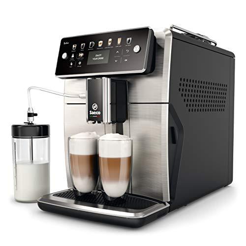 [Amazon.fr] Saeco SM7583/00 Xelsis Kaffeevollautomat 12 Kaffeespezialitäten (LED-Display mit Direktwahltasten, 6 Benutzerprofile), Edelstahl