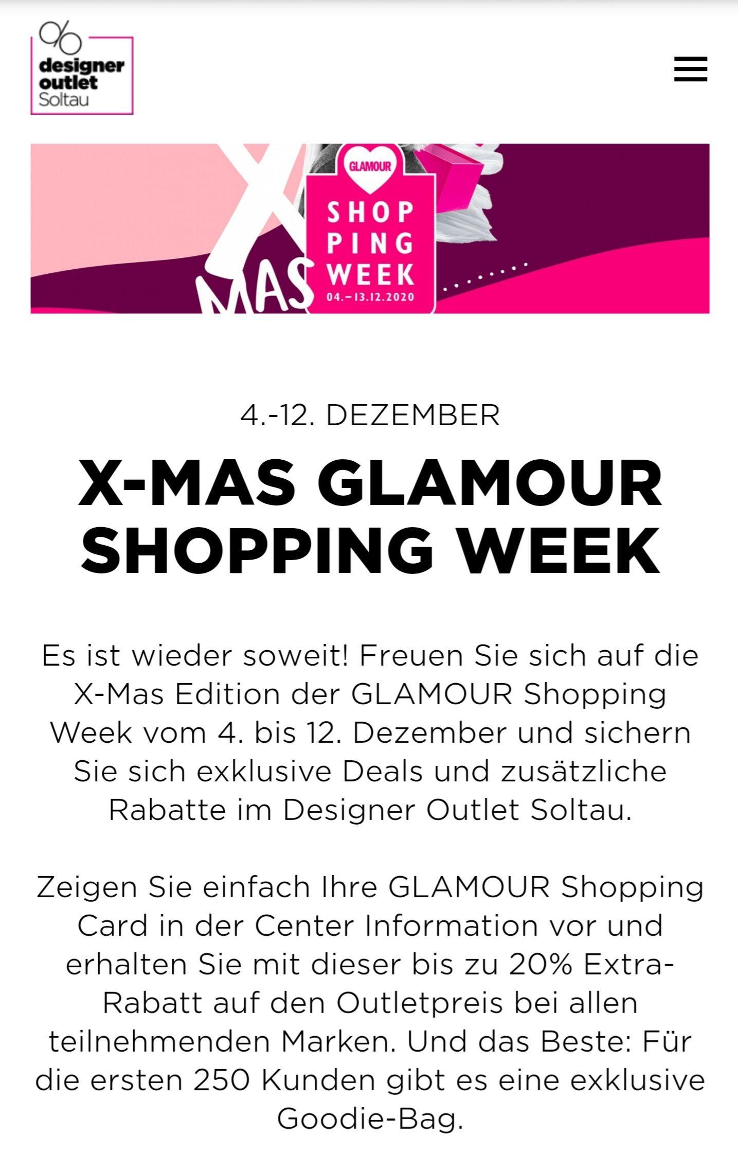 [Designer OutletSoltau]Glamour X-MAS Shopping