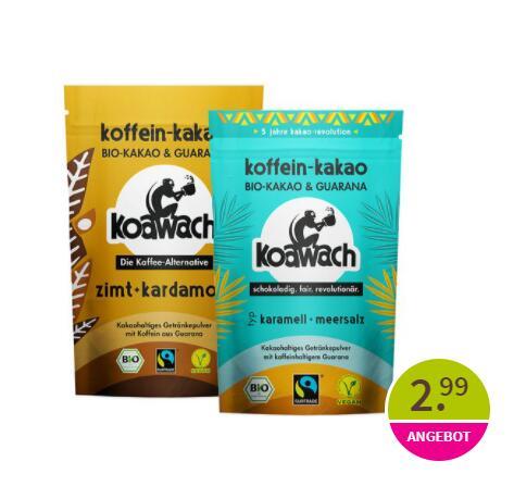 [denn's Biomarkt] Koawach Trinkschokolade, verschiedene Sorten 2,99 EUR